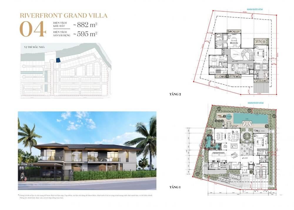 Phương án thiết kế mãu dinh thự ven sông Warterpoint hiện đại - khu Rivera 1