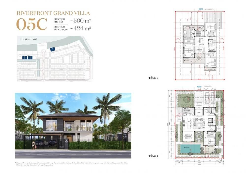 Phân khu Riverfront Grand Villa 8