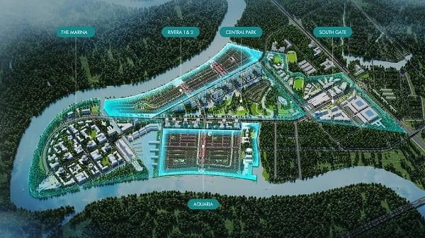 Bán đất nền Waterpoint với hệ thống kết cấu hạ tầng phát triển