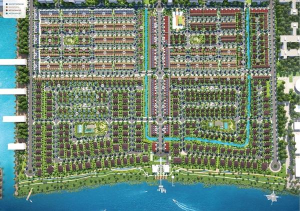 Hình ảnh dự án biệt thự Waterpoint được chụp từ vệ tinh