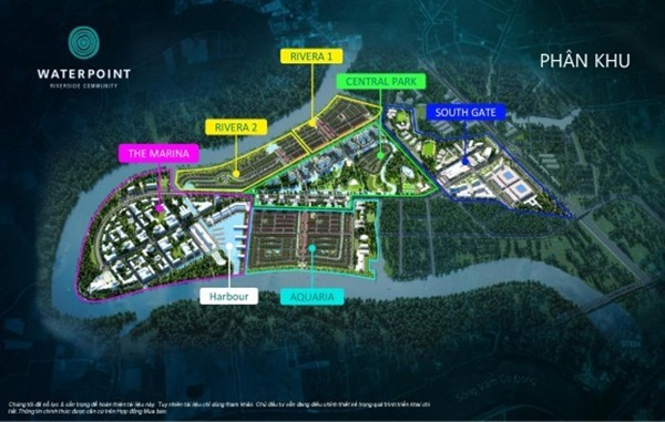 Phân khu dự án Waterpoint