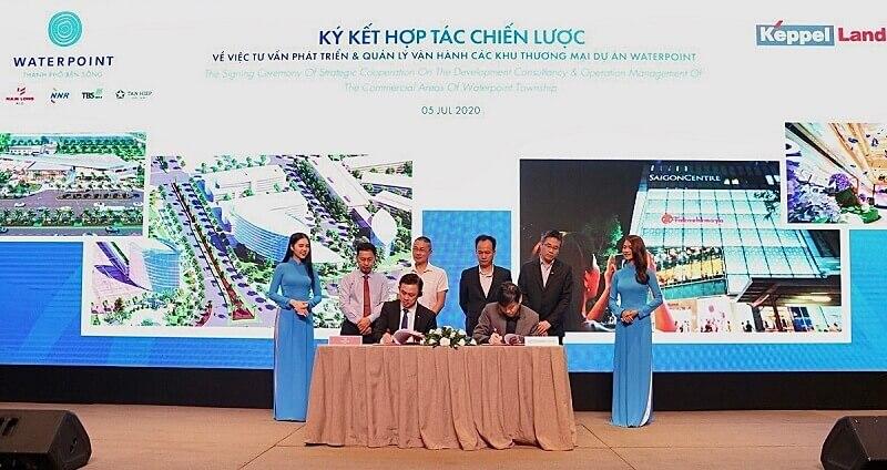 Nam Long đã ký kết thỏa thuận hợp tác chiến lược với Keppel Land Mall Management