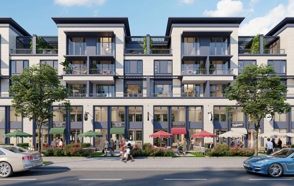 Các căn Shophouse có thiết kế thông tầng, đa năng và thống nhất kiến trúc trong toàn dự án